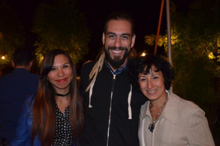 Analia Di Giorgio el DJ Simón Péndola y Ana San Miguel