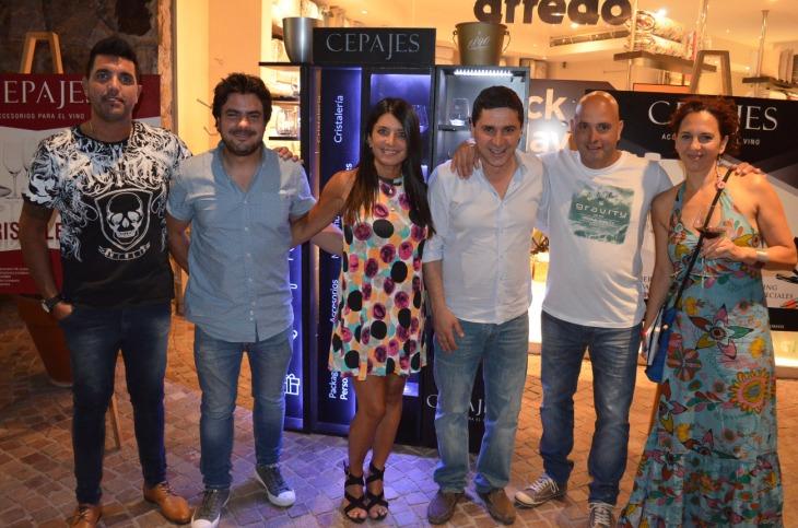 Cristian Chatore, Martín Guerrero, Pilu Godoy, Marcelo Afif, Pablo Ortega y Andrea Mendoza