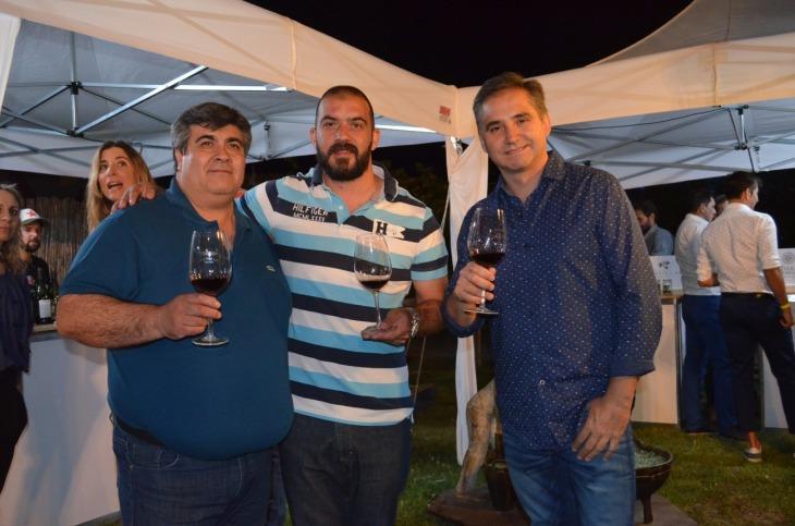 Damián Aguilar, Martín Delgado y Marcelo Laspina