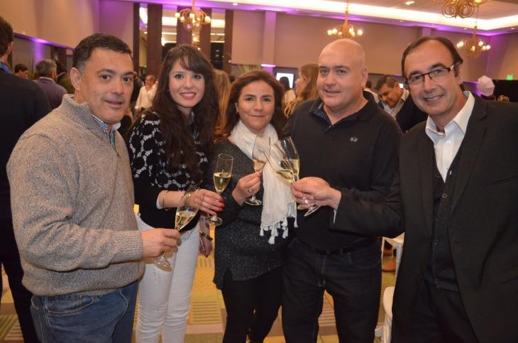 Gustavo Vargas Karen Moreno Monchi Awad Carlos Vargas y Alejandro Di Domenico (Camaradas Wines)