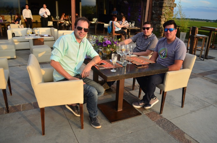 Juan Pablo Cantera Carlos Prados y Juan Mario Albarello