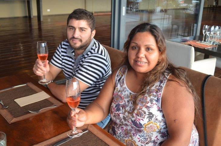 Martín Fernanez y Gabriela Chaile