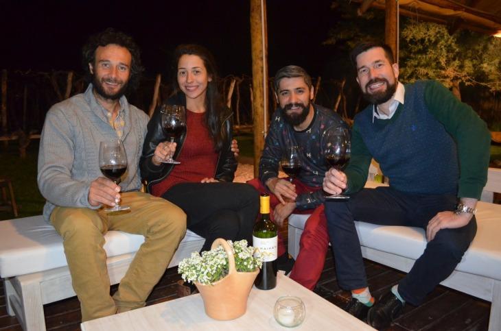 Martin Serra, Celeste Conrrad, Orlando Ríos y Jorge Neuschweischtain