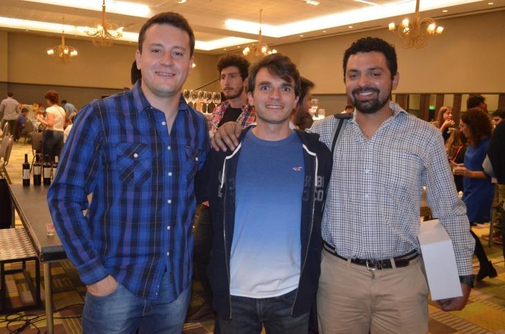 Fernando Lorenzi Andres Ciotti y Luciano Morales (Bodega Adhara)